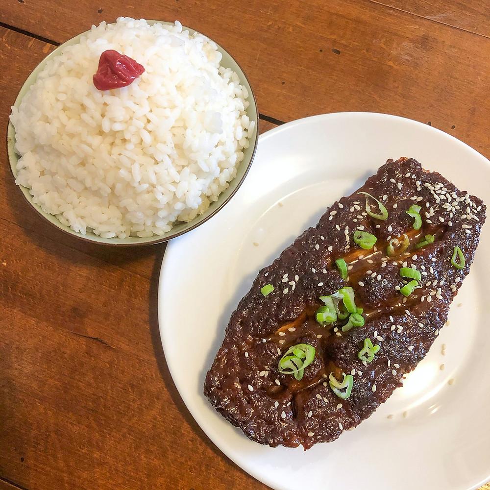 Nasu dengaku (miso glazed eggplant) ricetta recipe Cookingwiththehamster