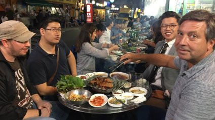 John Torode's Korean food tour cookingwiththehamster