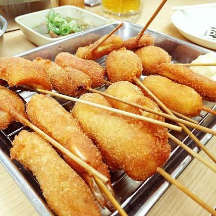 Kushikatsu Daruma Dotonbori osaka Cookingwiththehamster
