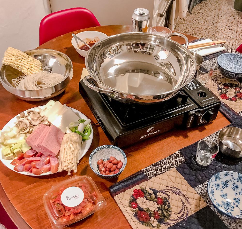 Budae jjigae Cookingwiththehamster