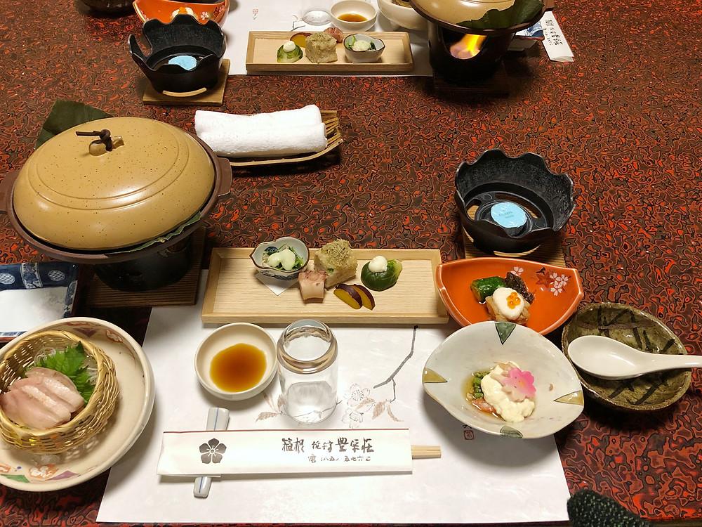 kijitei hakone ryokan kaiseki giappone cookingwiththehamster