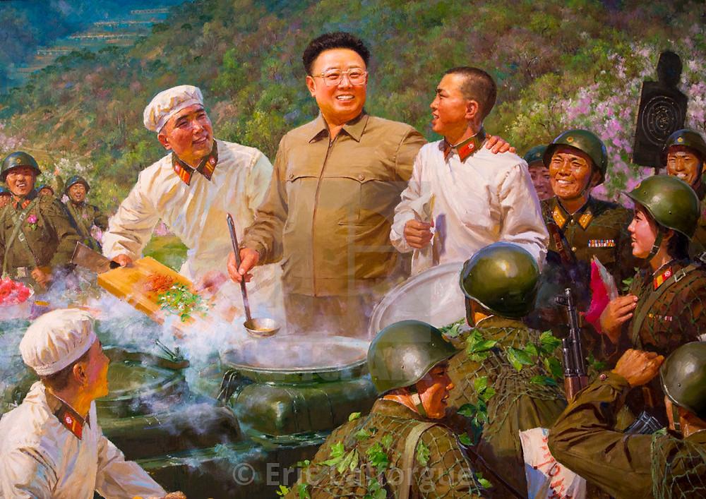 Kim Jong-il propaganda portrait cookingwiththehamster