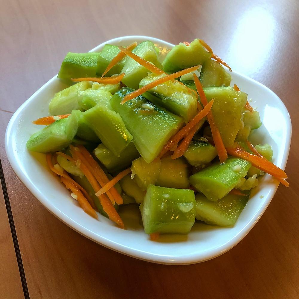Cold cucumbers in garlic sauce ravioli di lu pechino Cookingwiththehamster