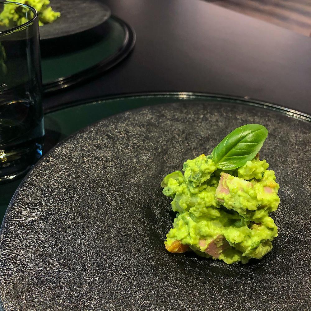Basil potato salad hazama kaiseki milano Cookingwiththehamster