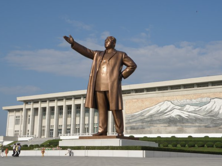 Kim Il-sung statue cookingwiththehamster
