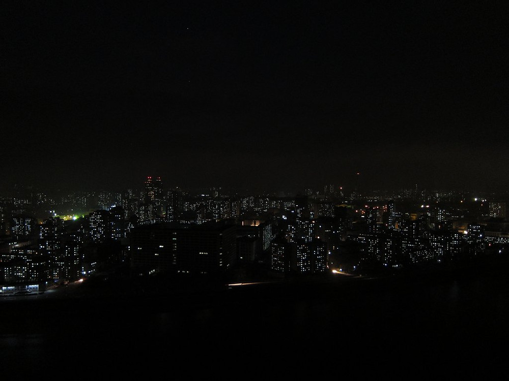 Lights in Pyongyang during night cookingwiththehamster