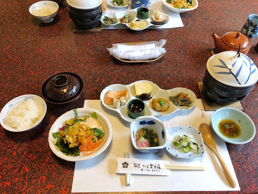 hoeiso hakone ryokan breakfast cookingwiththehamster
