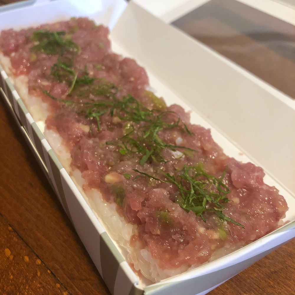 Oshizushi Neghi Toro aji Cookingwiththehamster