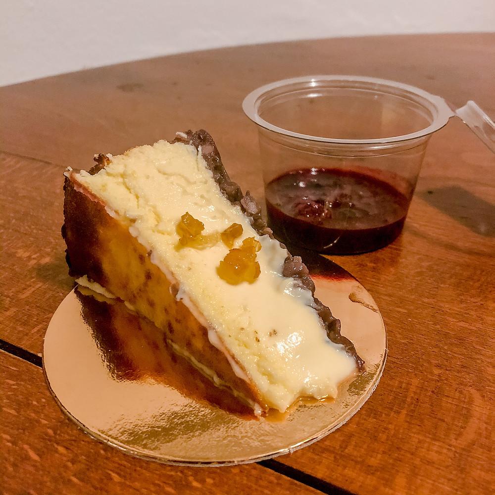 Anko yuzu Basque cheesecake Cookingwiththehamster