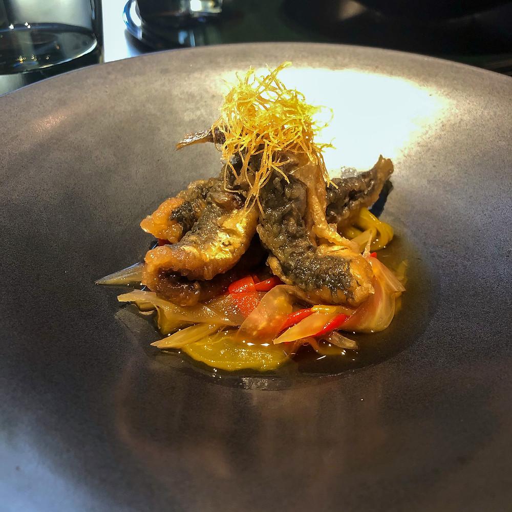 Marinated sardines hazama kaiseki milano Cookingwiththehamster