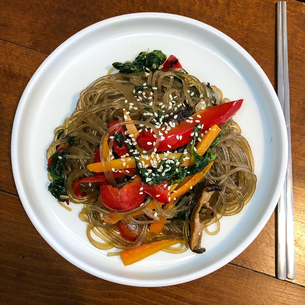Japchae korea corea ricetta recipe Cookingwiththehamster