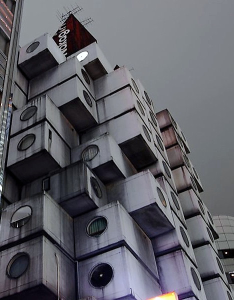 Nakagin Capsule Building Ginza tokyo Cookingwiththehamster