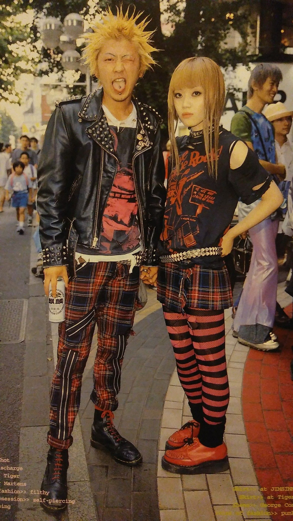 90s punk in Harajuku cookingwiththehamster