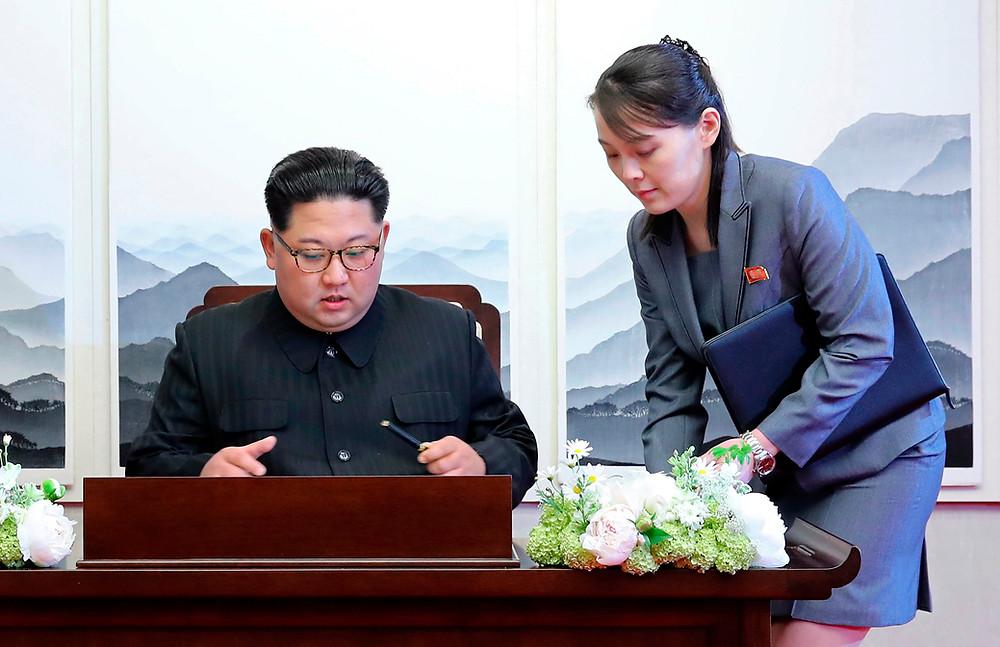 Kim Jong-un and Kim Yo-jong cookingwiththehamster