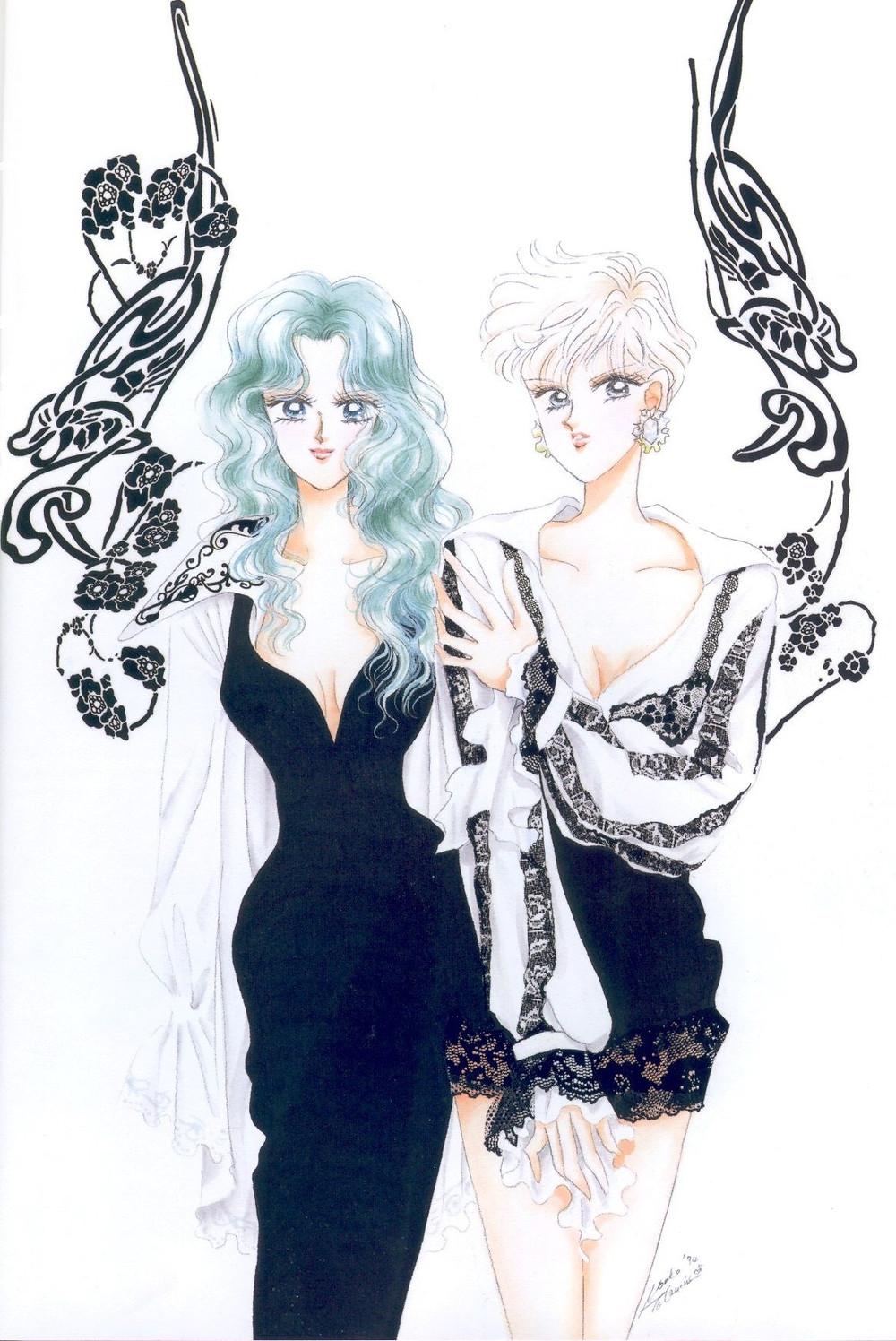 Sailor Neptune and Uranus cookingwithtehamster