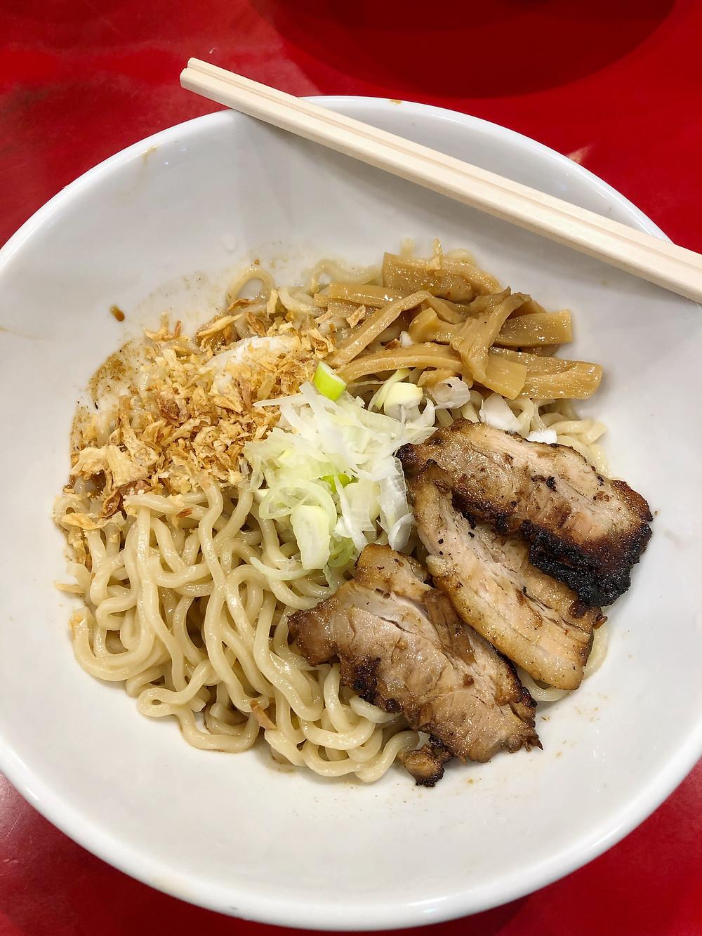 まぜそば七 shibuya ramen Cookingwiththehamster