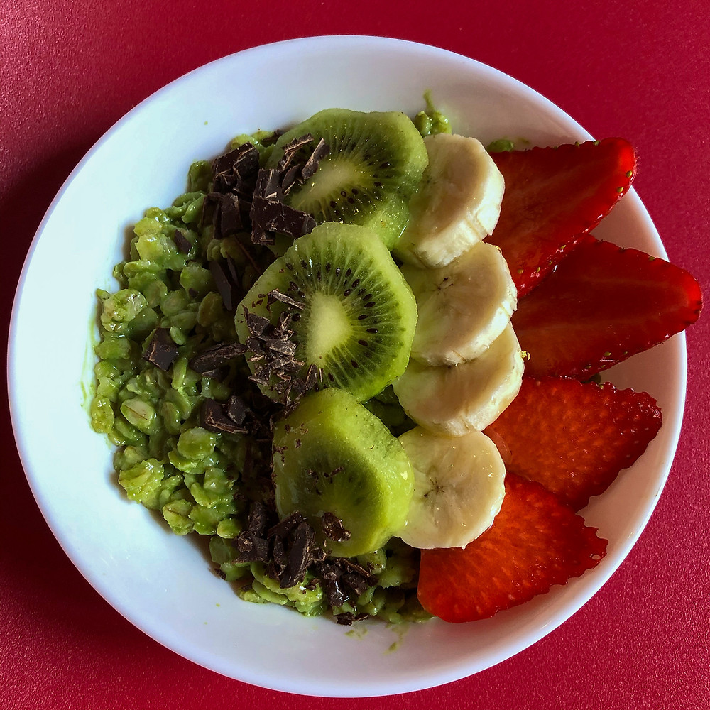 Matcha porridge ricetta recipe Cookingwiththehamster