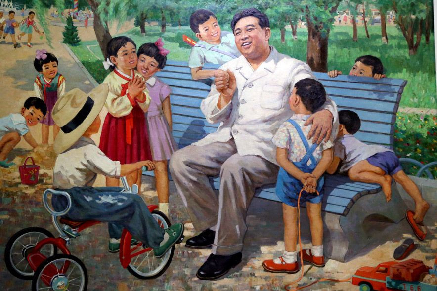 Kim Il-sung propaganda painting cookingwiththehamster