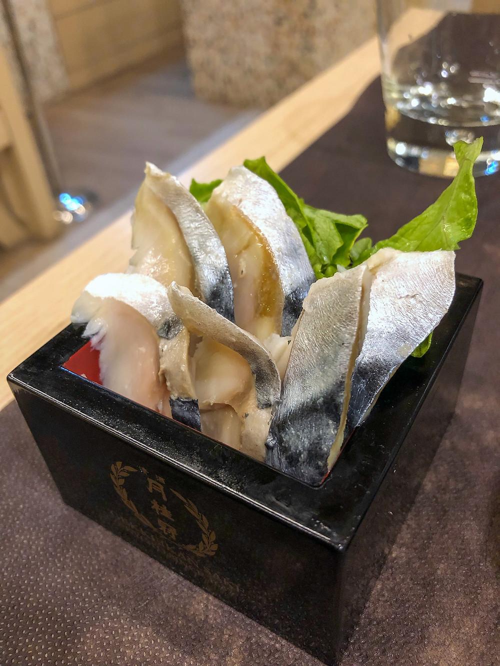 Saba sashimi sagami milano Cookingwiththehamster