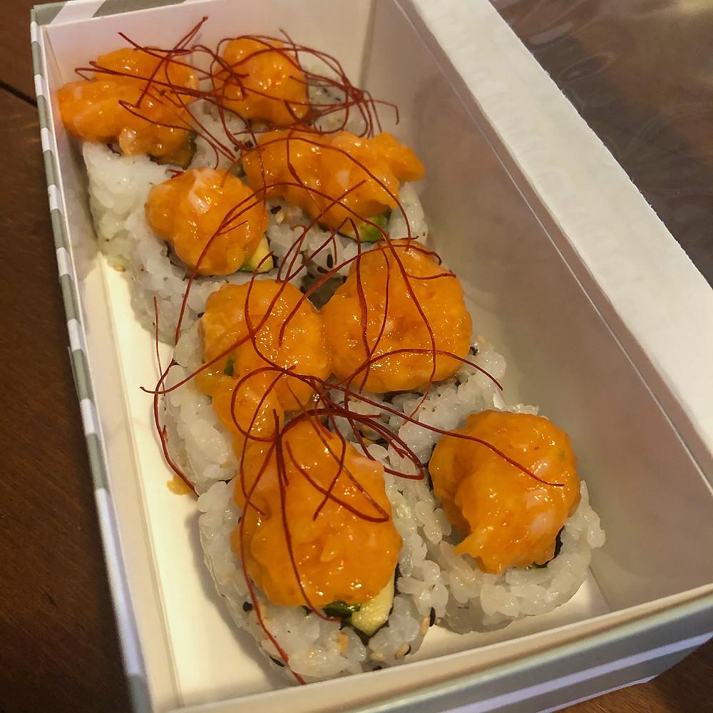 Uramaki spicy salmon Aji Cookingwiththehamster