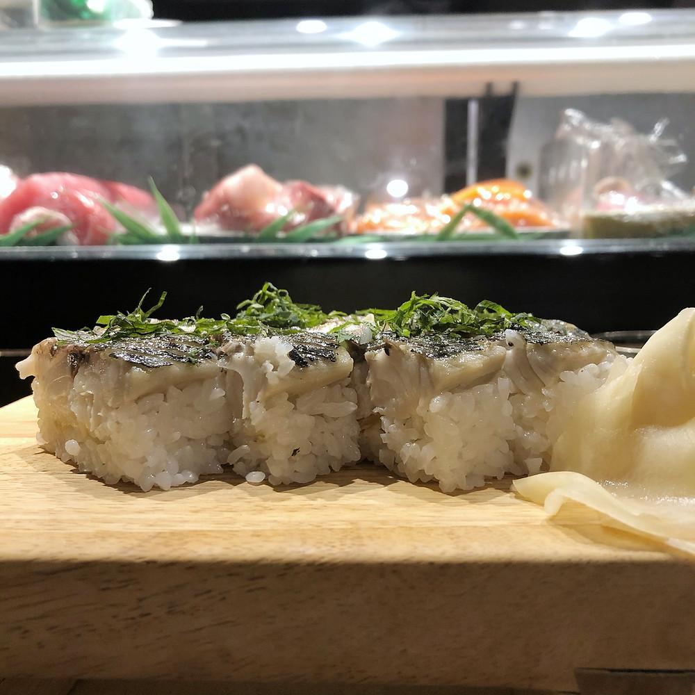 Saba Oshi sushi shiro poporoya Cookingwiththehamster