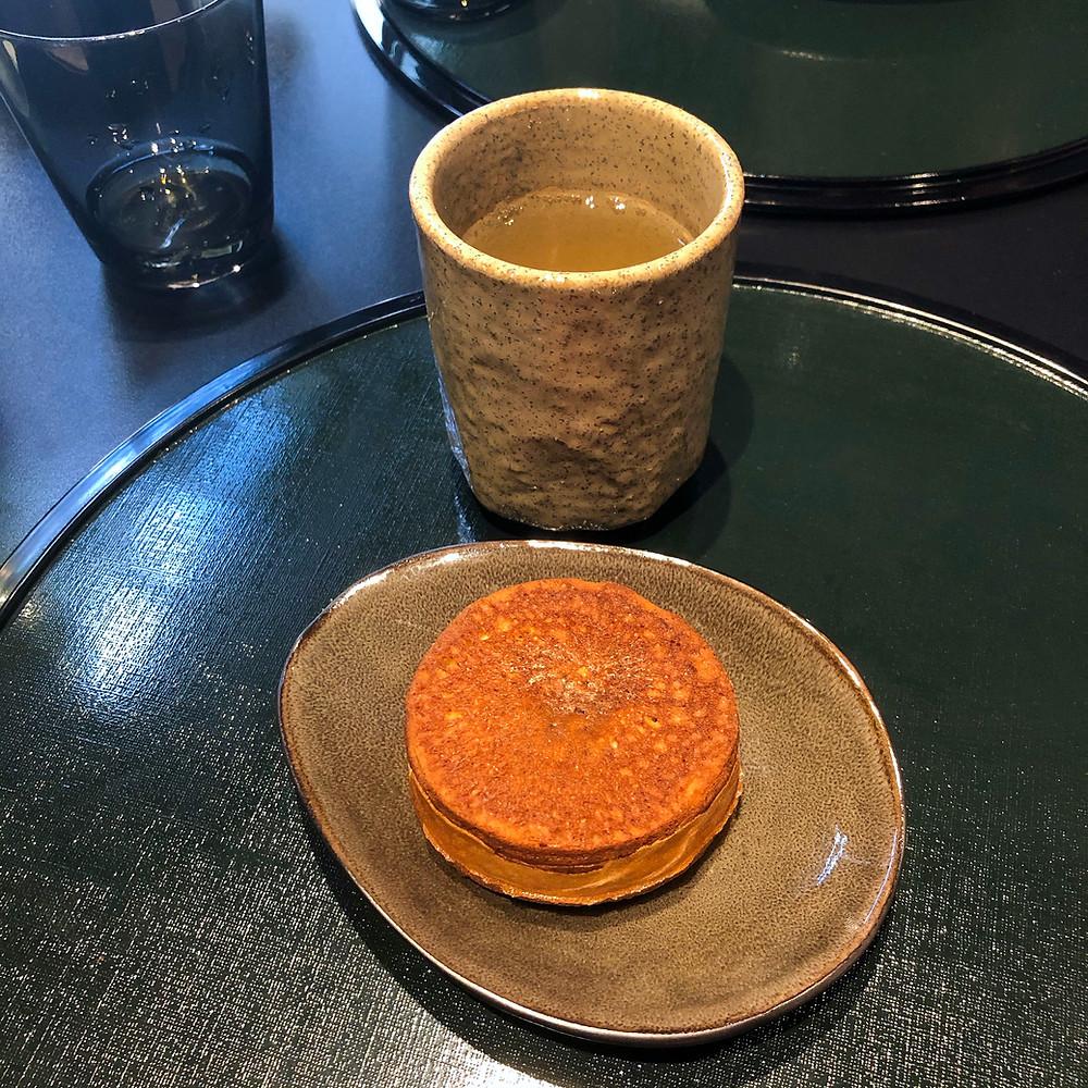 Imagawa-yaki hojicha tea hazama kaiseki milano Cookingwiththehamster