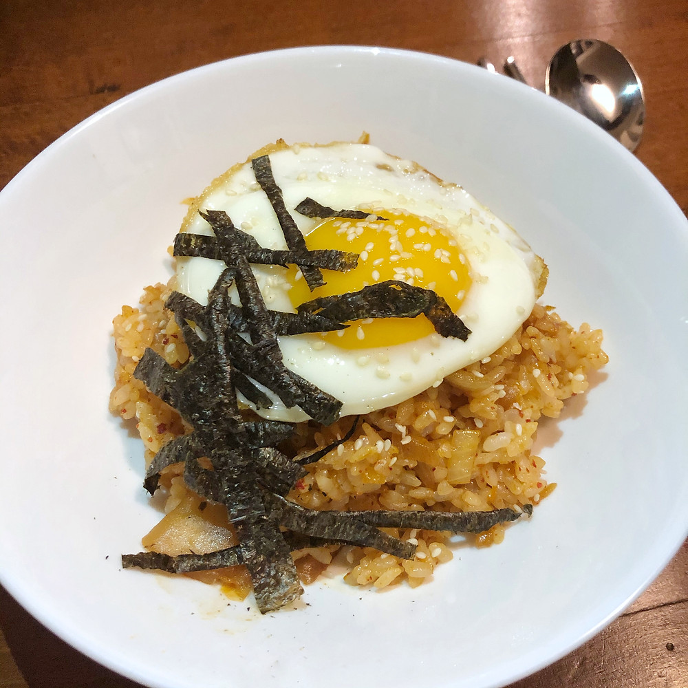 Kimchi fried rice cookingwiththehamster riso fritto con kimchi