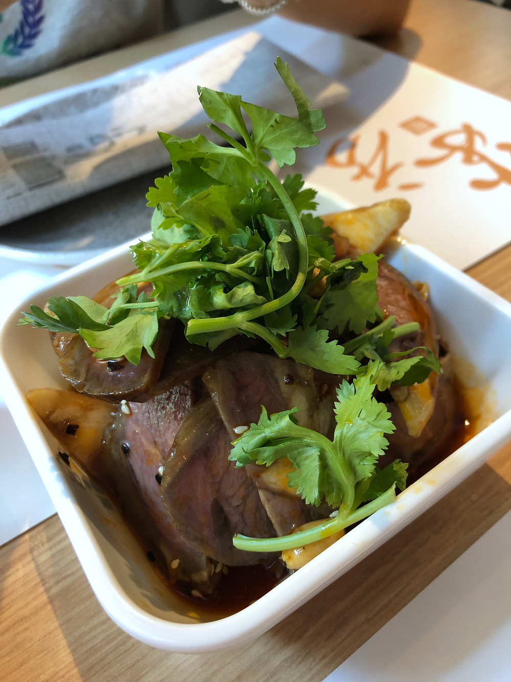 Cold beef with coriander mi dim sum Cookingwiththehamster