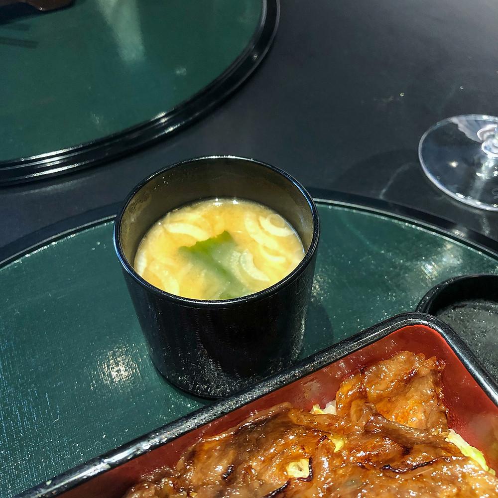 Red miso soup hazama kaiseki milano Cookingwiththehamster