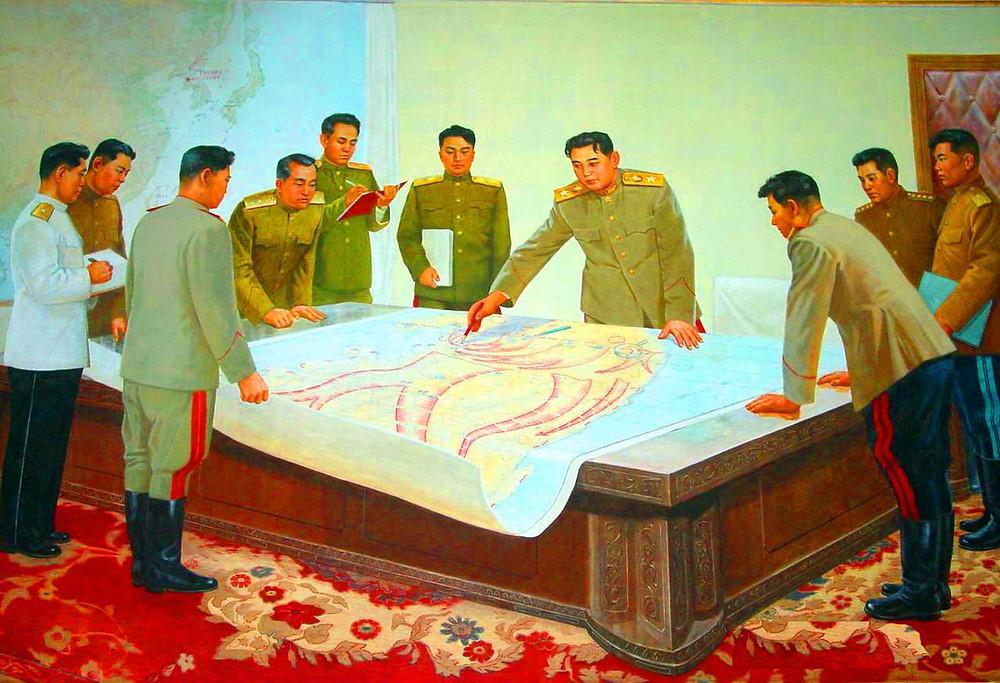 Kim Il-sung propaganda portrait cookingwiththehamster