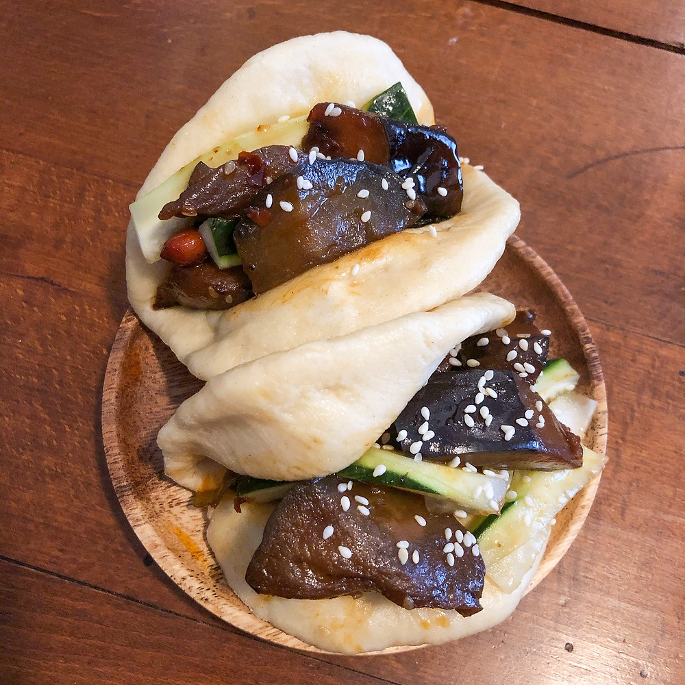 Bao with eggplant melanzane ricetta recipe Cookingwiththehamster