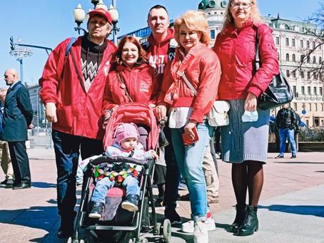 В честь Международного дня солидарности трудящихся. Новопушкинский сквер и Парк 65-летия Победы