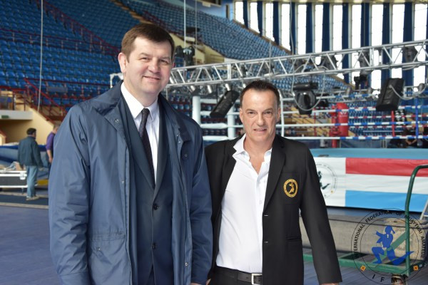 Alexandar Baraulyn, Belarus Sports Ministry inspects the Championships venue.