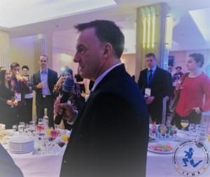 IFMA's General Secretary Stephen Fox thanking Belarus for their hospitality.