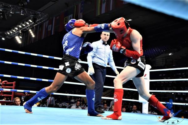 Peru's VICTOR V CANTO Kazakstan's ANATBAYEV ZHANIBEK at 67kgs