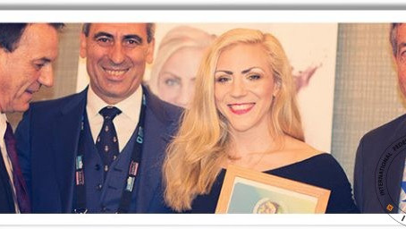 Sofia Olofsson receives IWGA Athlete of the Year Award at SportAccord Convention
