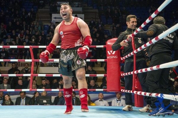 Iran's Arallou Iraj Azizfour thrilled with his win in 91kgs plus! Image: Lord K2 for IFMA