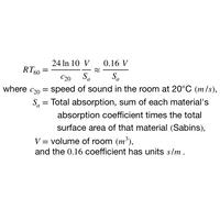 Sabine Equation.png