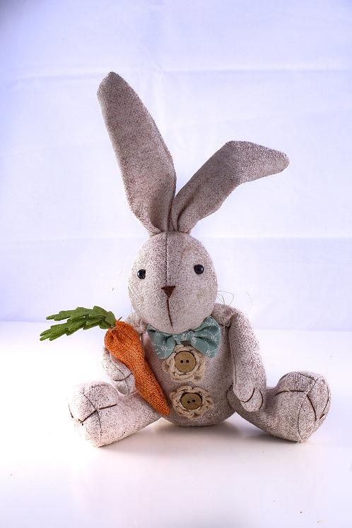 Stuffed Fabric Bunny w/ Carrot