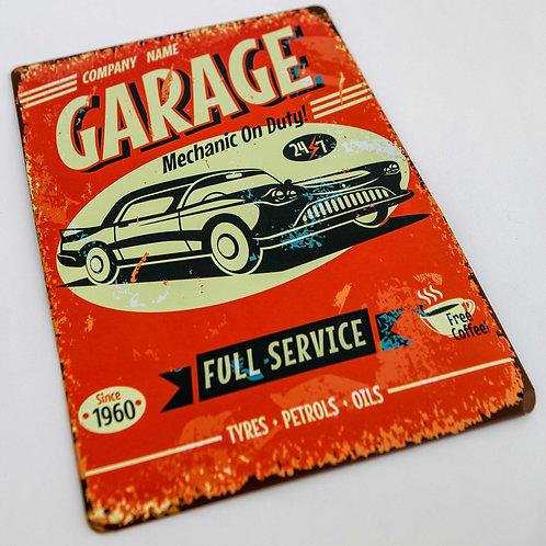 Garage Full Service Metal Sign