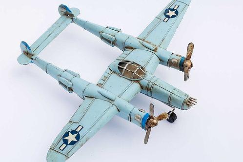 Metal Vintage Blue Airplane