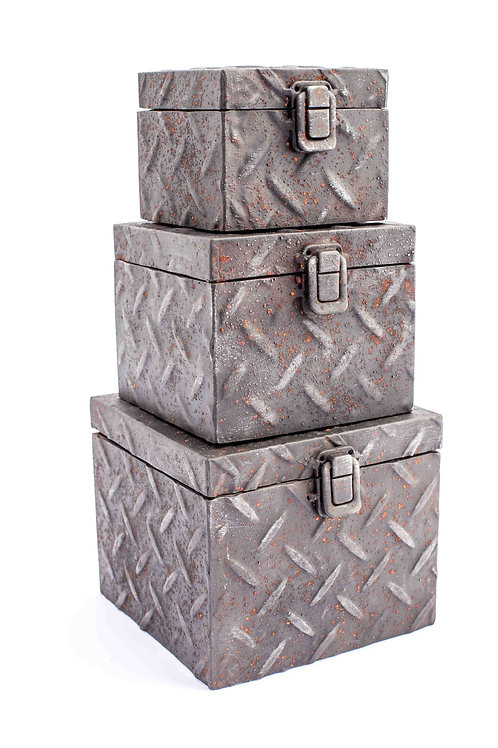 3 Diamond Plate Boxes