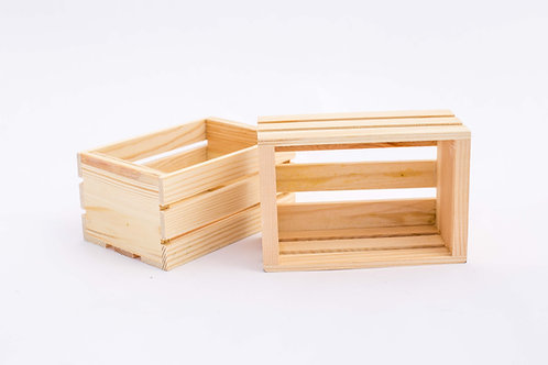 Small Wood Crate - natural