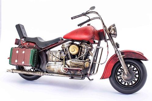 Red Vintage Metal Motorcycle