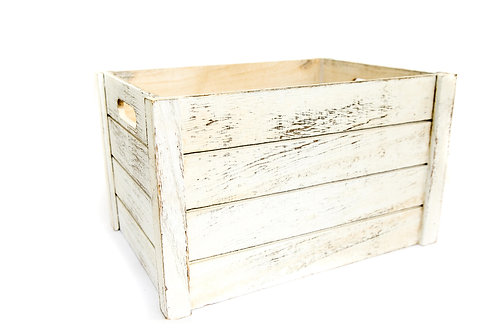 Large Distressed Wood Crate
