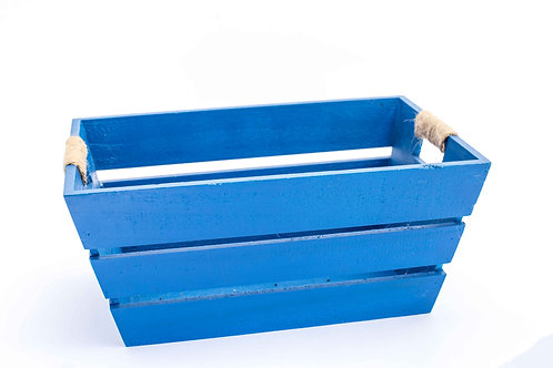 Blue Wood Box