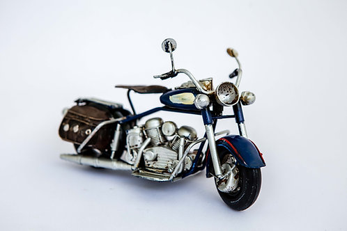 Blue Metal Motorcycle