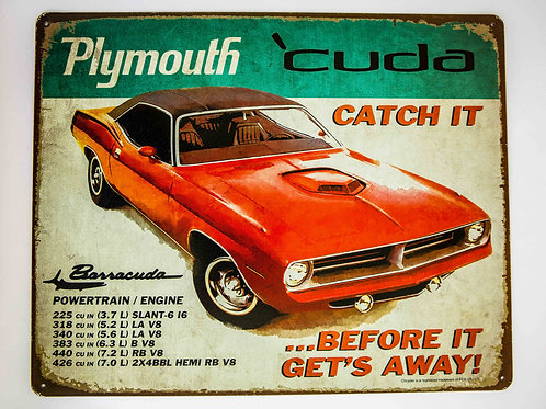 Plymouth Metal Sign