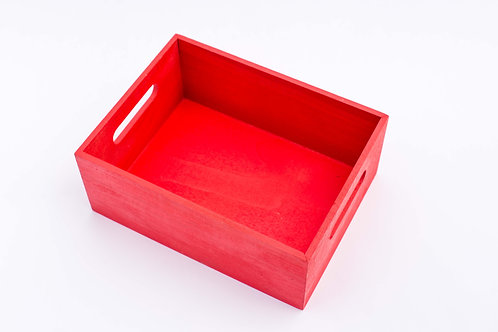Red Wood Tray