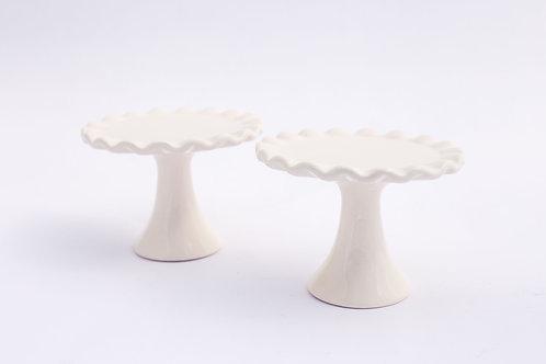 White Ceramic Cupcake Stand